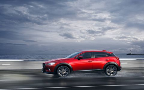 The CX-5 is taller and the Mazda3 is longer than the CX-3.