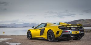 The sold out McLaren 675LT Spider has 666 hp (675 ps) and 516 lb-ft of torque. It would have cost you $372,600.
