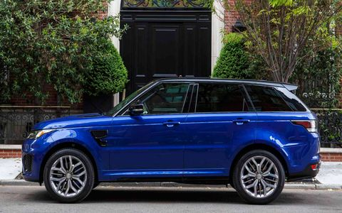 Land Rover says in more than 1000 development laps around the Nürburgring's 13-mile Nordschleife the SVR turned an 8 minute 14 second best lap, faster than a BMW 1 Series M, Lexus IS-F and the Camaro SS. So there's that.