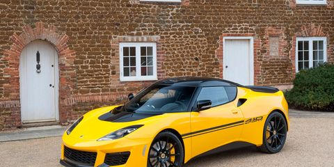 The Lotus Evora 410 dropped weight and gained power over the 400. Only 150 will be built.