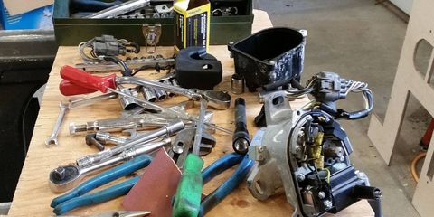 Modifying a Honda D16Y8 distributor to work on a D15B7 engine.