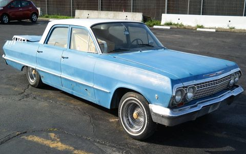 Full-sized 1960s Chevy sedans don't get much love in the United States, but Europeans love them.
