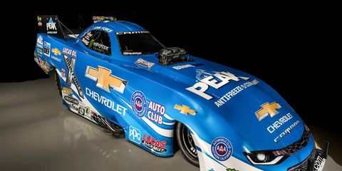John Force will pilot the new 2016 Chevy Camaro SS Funny Car this weekend.