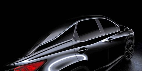 The fourth-generation RX will debut at the New York Auto Show on April 1.