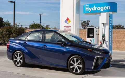Toyota plans a network of 12 hydrogen stations in the Northeast and will help establish many more in California.
