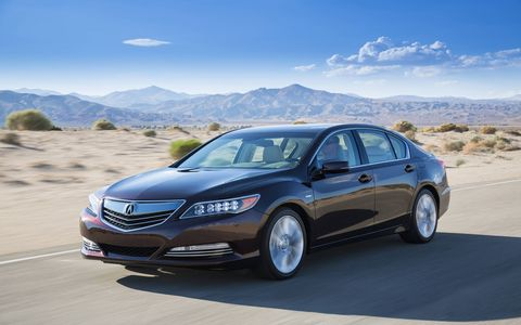 The new Acura is very quiet on the road.