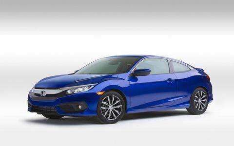 The front half of the Civic coupe is the same as the sedan all the way up to the top of the windshield.