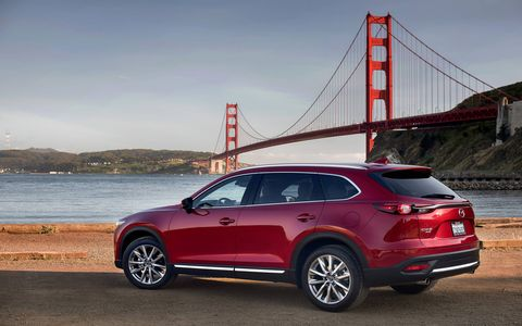The 2018 Mazda CX-9 comes with a 2.5-liter four making 227 hp and 250 lb-ft of torque.