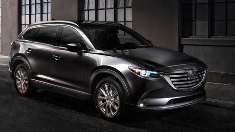 The 2019 Mazda CX-9 is only offered with a 2.5-liter turbocharged I4 making 250 hp on premium gas.