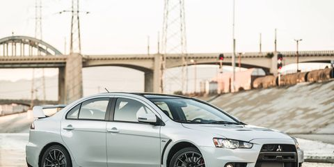 The 2016 Lancer Evolution Final Edition features commemorative badging and a special number plate in the center console.