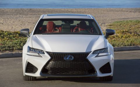 The Lexus GS-F high-performance sports sedan is revamped for 2016.