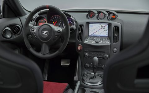 NISMO models come with a revised dash.