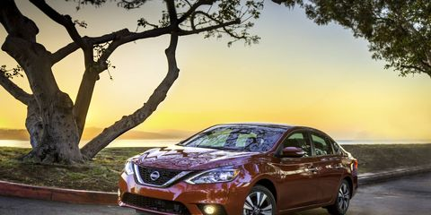 The redesigned Nissan Sentra falls inside of the new muscular styling sensibilities.