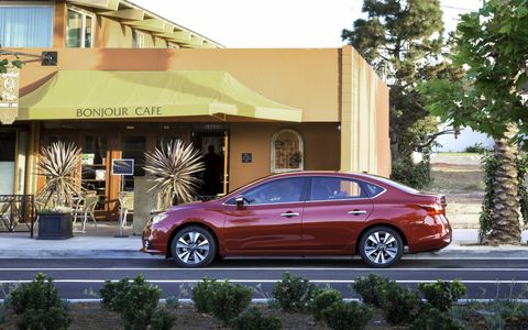 The silhouette remains the same for the Sentra, but that isn't necessarily a bad thing.