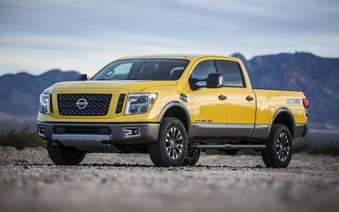 The 2016 Nissan Titan XD fills the gap between 1/2- and 3/4-ton trucks using a 5.0-liter Cummins V8 diesel engine