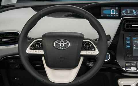 The 2017 Prius Three gets a 1.8-liter four-cylinder ECVT hybrid engine and Toyota's Hybrid Synergy Drive with EV, eco and power modes.