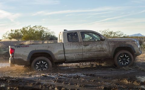 The 2016 Toyota Tacoma has been revealed at the Detroit auto show. Buyers get a choice of two engines, including an Atkinson cycle V6, and five trims. The TRD Off-Road trim is shown here.