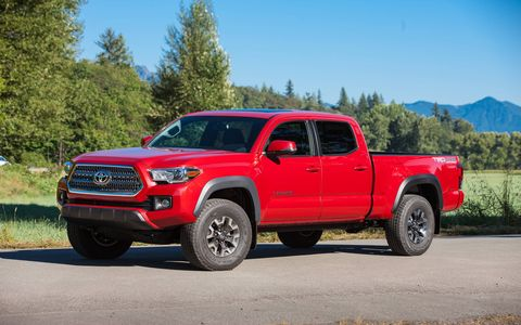 The 2017 Toyota Tacoma TRD Off Road has two-track chops and rolls down the road softly