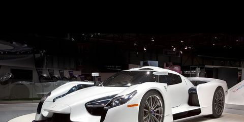 The 2018 SCG 003s shown at the Geneva Auto Show