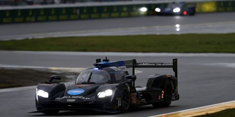 The No. 10 Wayne Taylor Racing Cadillac DPi driven by Ricky Taylor and Jordan Taylor.