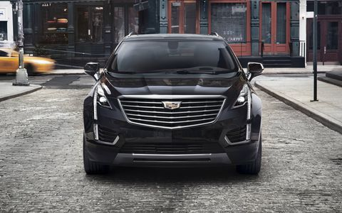 The 2017 Cadillac XT5 shares family lineage with the SRX crossover it replaces.