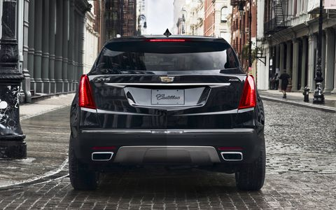 The Cadillac XT5 crossover was unveiled at a Fashion Week show in New York City.