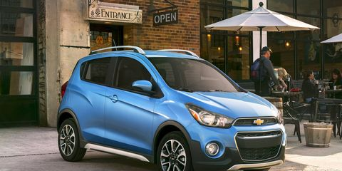 The 2017 Chevrolet Spark Activ will get a (slightly) raised ride height, in addition to restyled body elements.