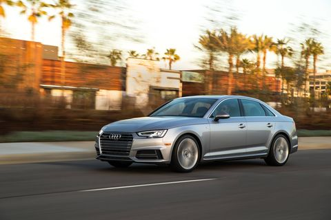 The 2018 Audi A4 has a 2.0-liter turbocharged I4 making 252 hp.