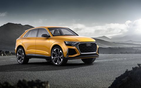 Audi brought the Q8 Sport concept to Geneva this year, featuring a 3.0-liter V6 paired with a mild hybrid system.