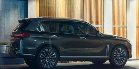 BMW will unveiled a concept version of the X7, due as a 2019 model.