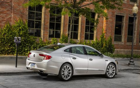 The 2017 Buick LaCrosse is powered by a 3.6-liter V6 producing 310 hp and 282 lb-ft of torque.
