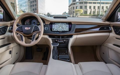 The CT6 interior offers 40.4 inches of rear-seat legroom and segment-best interior storage including a 2.2-liter center console storage area.