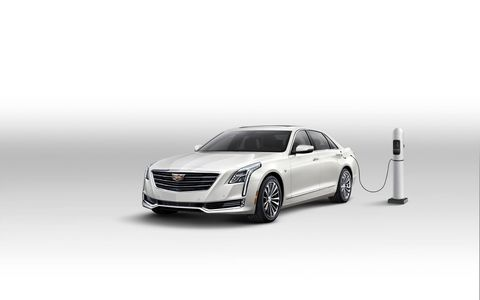 """""""The first-ever CT6 is a technological showcase throughout, making it an ideal platform for Cadillac to offer its first plug-in,"""" said Cadillac president Johan de Nysschen."""