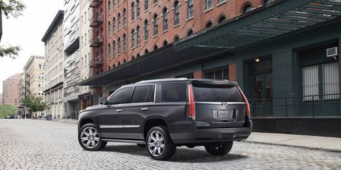 The 2017 Cadillac Escalade updates include availability of the Rear Camera Mirror and Automatic Parking Assist. There are also aesthetic changes including two new exterior paint colors and a new 22-inch wheel design.