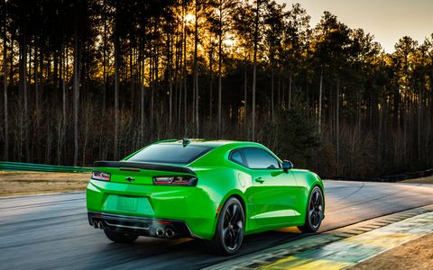 The 2017 Chevy Camaro will offer the 1LE track package for both V6 and V8 cars.