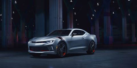 The Redline package adds black wheels with distinct red has marks, black nameplates outlined in red, blacked-out grilles and black Chevy bowtie logos.