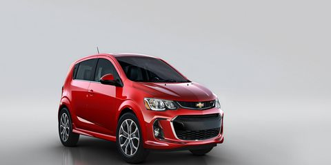 The 2017 Sonic got a redesign, bringing it closer to Cruze, Bolt and Trax designs.