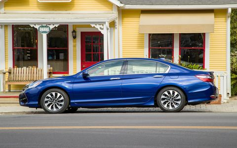 The Accord Hybrid gets almost 50 mpg.