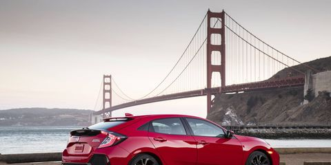 The 2017 Honda Civic Hatchback is on sale now.