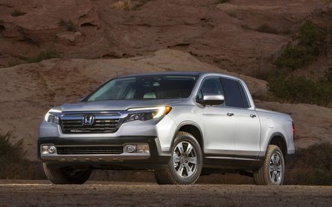 Honda introduced the all-new 2017 Ridgeline pickup at the Detroit auto show.
