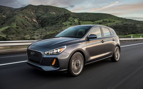 The 2018 Elantra GT lands this summer with two engines on the menu, along with a dual-clutch automatic in the top Sport version.