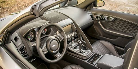 The F-Type SVR has a top speed of 195 mph, where permitted. And a luxurious interior.