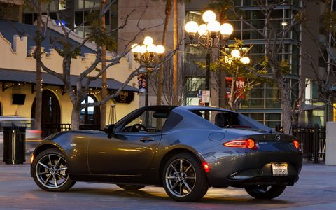 The 2017 Mazda MX-5 sports a 2.0-liter engine producing 155 hp and 148 lb-ft of torque.