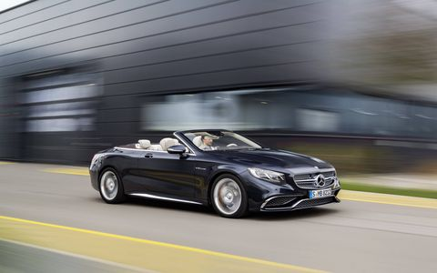For 2017 the cabriolet S65 AMG lost its top, and nothing else. We would have liked to see it lose some weight though.