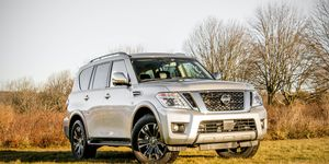 The 2017 Armada is powered by a 5.6-liter V8 good for 390 hp.