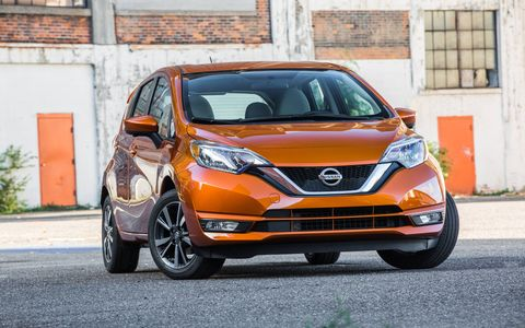 The 2017 Versa Note premiered before the L.A. Auto Show/