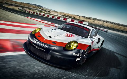"""""""While retaining the typical 911 design, this is the biggest evolution in the history of our top GT model,"""" says Head of Porsche Motorsport Dr. Frank-Steffen Walliser."""