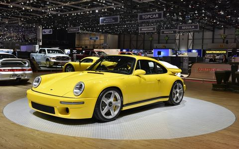 """This is the first RUF sports car to be based on a chassis completely of the firm's own design with a body that pays tribute to the 1987 CTR """"Yellow Bird."""""""