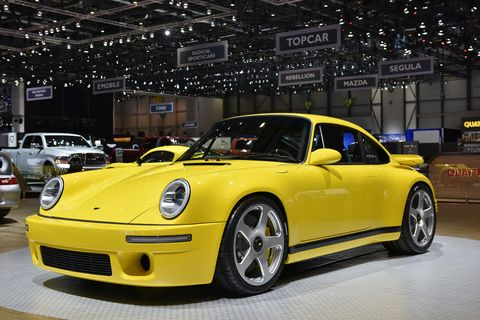 "RUF will have a special class at The Quail this year and will use the occasion to debut its latest CTR alongside the freshly restored legendary 1989 ""Yellowbird"" CTR #001, the latter owned by everyone's best friend Bruce Meyer. Shown here is the 2017 RUF CTR."