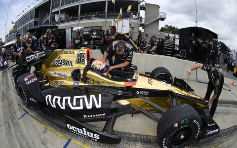Will Power won the pole for Sunday's Alabama Grand Prix at Barber Motorsports Park Saturday